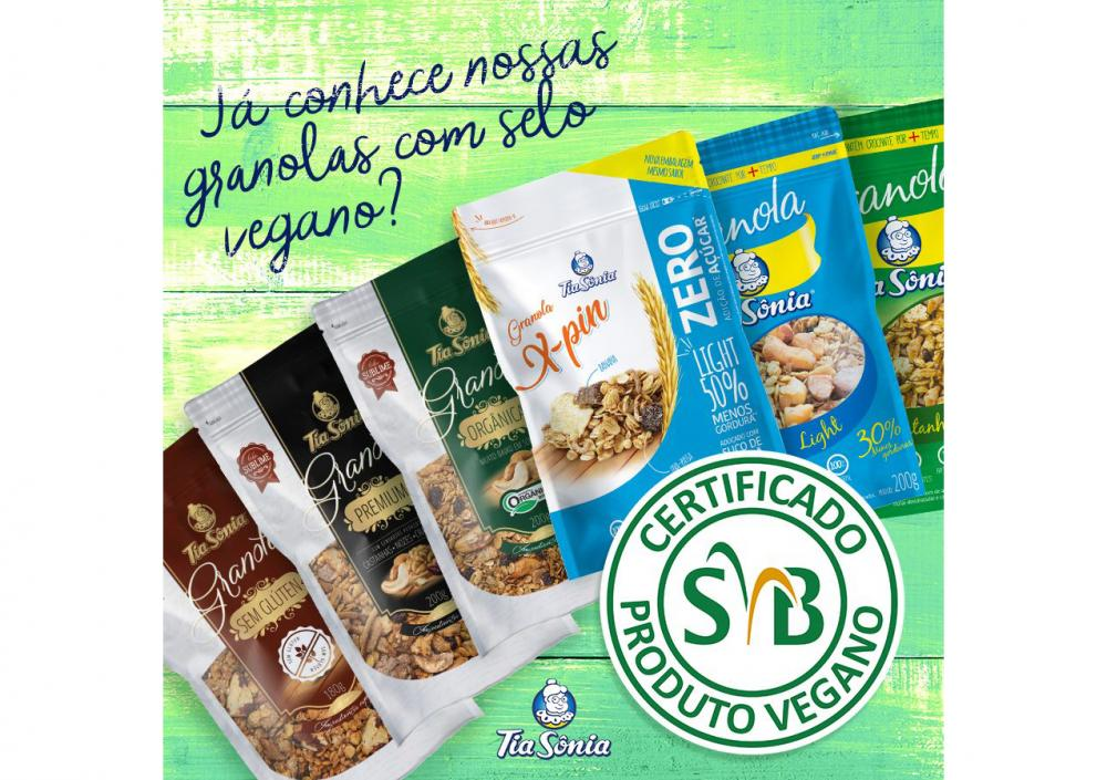 Get to know the Vegan Certified Granola Tia Sônia