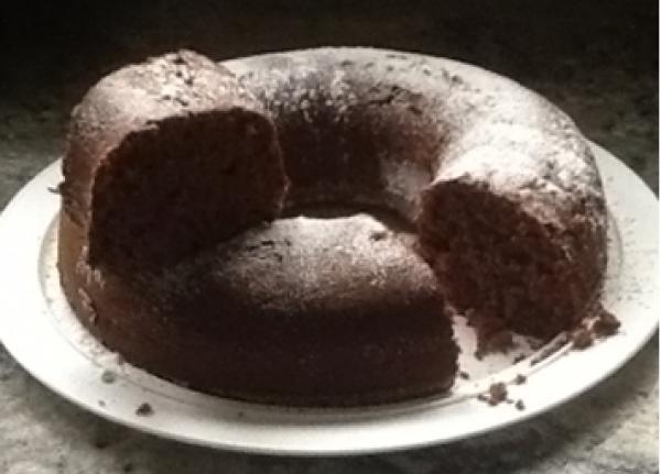 Bolo de Chocolate com Mel e Granola Tia Sônia