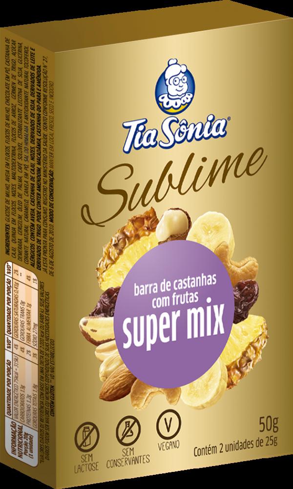 Barra de Castanhas com Frutas Super Mix