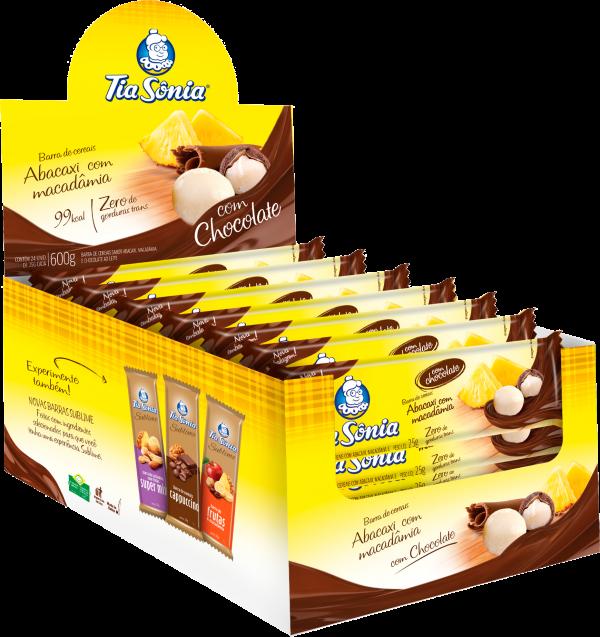 Barra Abacaxi com Macadâmia com Chocolate
